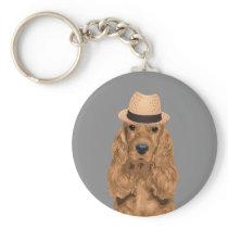 Elegant Cocker Spaniel Keychain for Dog Lovers