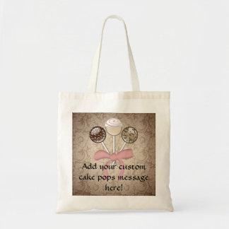 Elegant Cocoa Damask Cake Pop Tote Bag