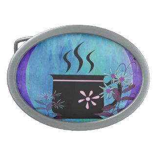 Elegant Coffee Oval Belt Buckle