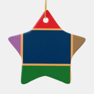 Elegant Color Collage n Gold line Border Ornaments