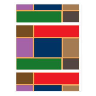 Elegant Color Collage n Gold line Border Post Cards