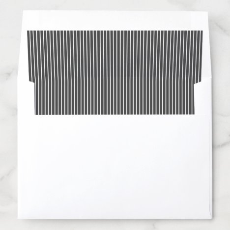 Elegant color editable classy dark gray stripes envelope liner