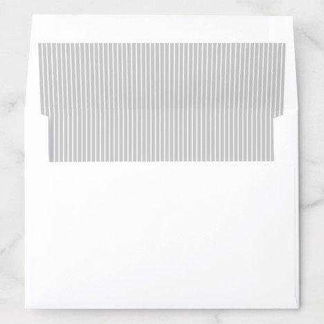 Elegant color editable classy gray stripes envelope liner