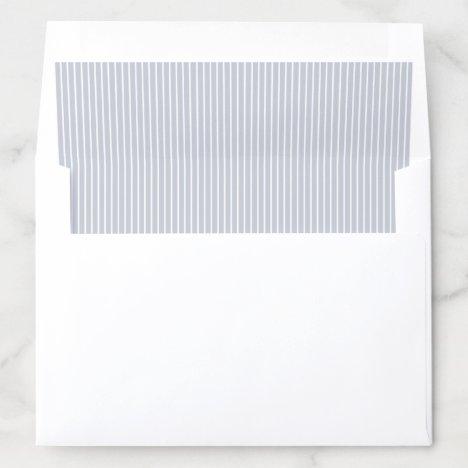 Elegant color editable dusty blue stripes envelope liner