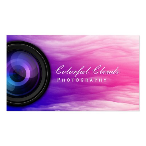 Elegant Colorful Clouds Photographer Business Card