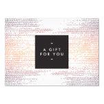 Elegant Colorful Confetti Dots Gift Certificate 4.5x6.25 Paper Invitation Card