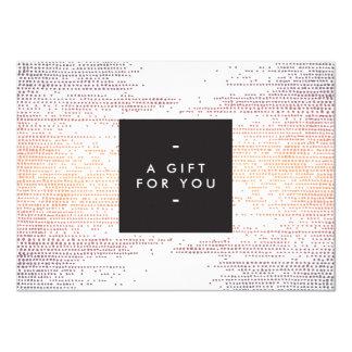 Elegant Colorful Confetti Dots Gift Certificate Card
