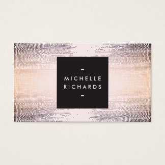 Elegant Colorful Confetti Dots on Pastel Pink II Business Card