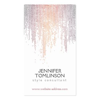 Elegant Colorful Confetti Dots on White Double-Sided Standard Business Cards (Pack Of 100)