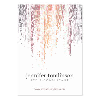 Elegant Colorful Confetti Dots on White Large Large Business Card