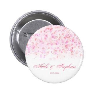 Elegant Colorful Confetti Ink Dots Pinback Button