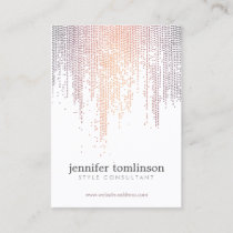 Elegant Colorful Confetti Rain Pattern Business Card