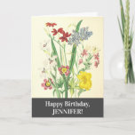 [ Thumbnail: Elegant, Colorful Floral Happy Birthday Card ]