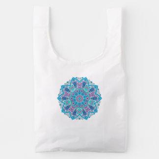 Elegant Colorful Floral Lace Circle Reusable Bag