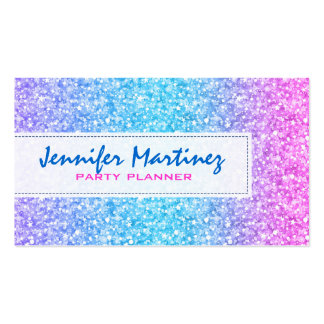 Elegant Colorful Glitter & Sparkles Texture Double-Sided Standard Business Cards (Pack Of 100)