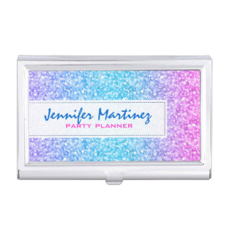 Elegant Colorful Glitter & Sparkles Texture Case For Business Cards