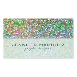 Elegant Colorful Glitter Texture-Green Overtones Double-Sided Standard Business Cards (Pack Of 100)