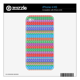 Elegant Colorful Graphic FineArt Abstract Pattern Skin For iPhone 4