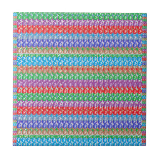 Elegant Colorful Graphic FineArt Abstract Pattern Tile