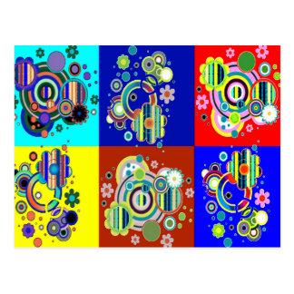 Elegant Colorful Graphics by NAVIN CherryHill USA Postcard