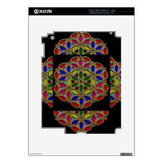 Elegant Colorful Jewel Necklace Pendent design fun iPad 2 Decals