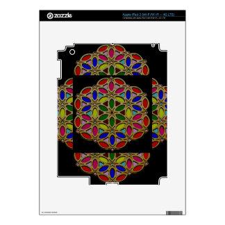 Elegant Colorful Jewel Necklace Pendent design fun iPad 3 Decal