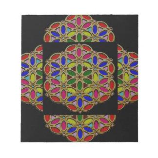 Elegant Colorful Jewel Necklace Pendent design fun Memo Note Pad