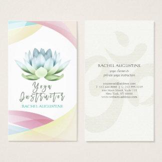 Elegant Colorful Lotus & OM Symbol Yoga Instructor Business Card