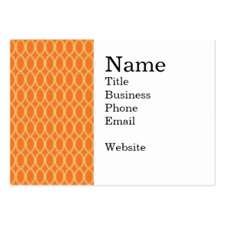 Elegant Colorful Orange and Cream Oval Pattern Large Business Card