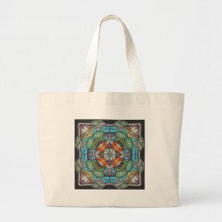 elegant colorful oriental flair graphic bag