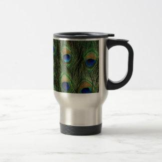 Elegant Colorful Peacock Feathers Custom Photo Des Travel Mug