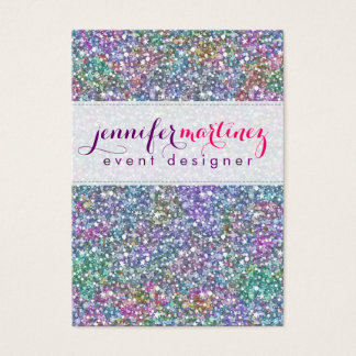 Elegant Colorful Purple Tint Glitter & Sparkles 2 Business Card
