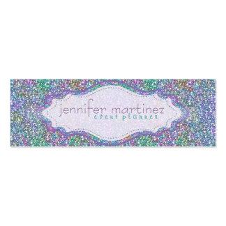 Elegant Colorful Purple Tint Glitter & Sparkles 3 Business Card Template