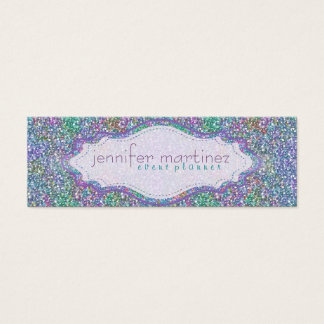 Elegant Colorful Purple Tint Glitter & Sparkles 3 Mini Business Card