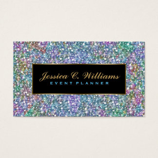 Elegant Colorful Purple Tint Glitter & Sparkles 5 Business Card