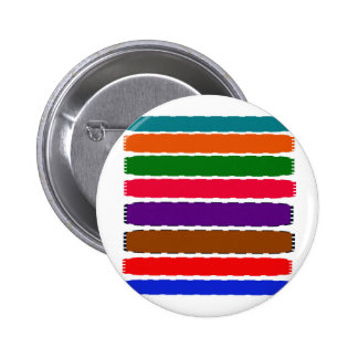 Elegant Colorful Rainbow Slices Pattern Pinback Button