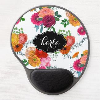 Elegant Colorful Spring Flowers Gel Mouse Pad