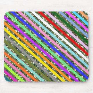 Elegant Colorful Stripe Camouflage Pattern Mousepad