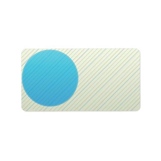 Elegant colorful stripes texture address label