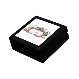 Elegant Colorful Vintage Violet Calling Card Gift Gift Box