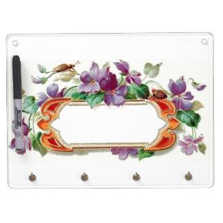 Elegant Colorful Vintage Violet Dry Erase Board