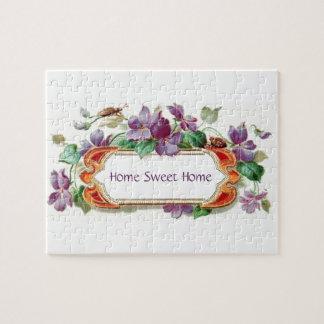 Elegant Colorful Vintage Violet Sweet Home Puzzle