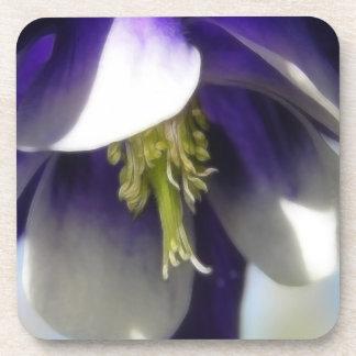 Elegant Columbine Flower Coaster