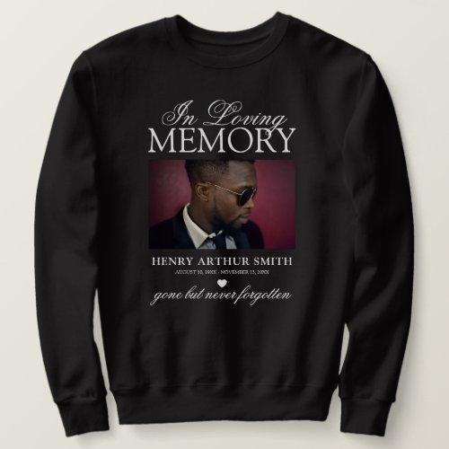 Elegant Commemorative Photo | In Loving Memory Sweatshirt