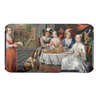Elegant company dining in an pillared hall (panel) barely there iPod case