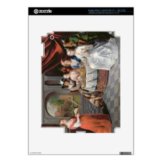 Elegant company dining in an pillared hall (panel) iPad 3 decals