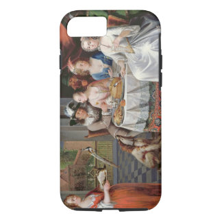 Elegant company dining in an pillared hall (panel) iPhone 8/7 case