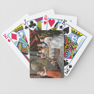 Elegant company dining in an pillared hall (panel) poker deck