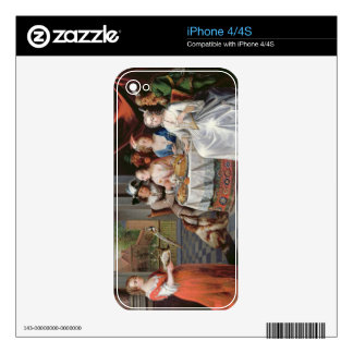 Elegant company dining in an pillared hall (panel) skins for the iPhone 4