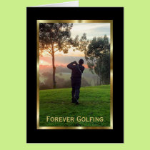 Elegant Condolences Card for a Golfer